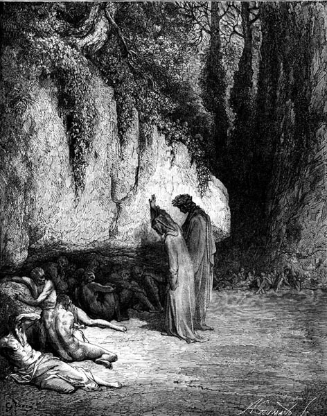 Gustave Doré Illustration - Purgatorio Canto 4, 31