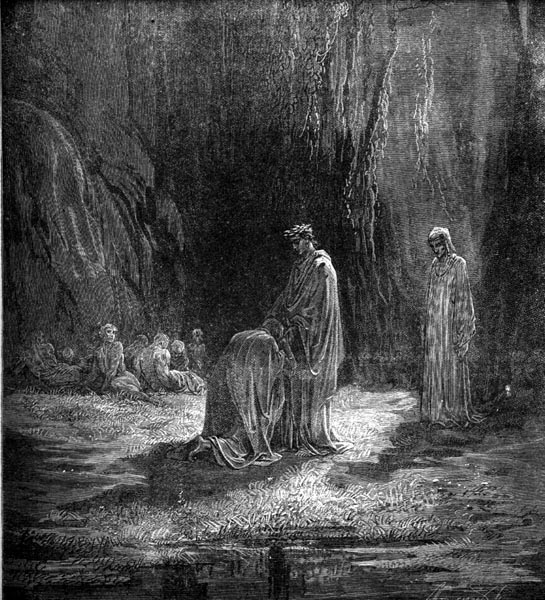 Gustave Doré Illustration - Purgatorio Canto 7, 21