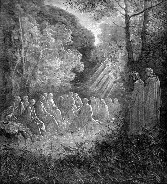 Gustave Doré Illustration - Purgatorio Canto 7, 82