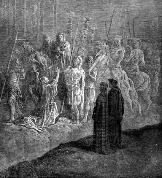 Gustave Doré Illustration - Purgatorio Canto 10, 74