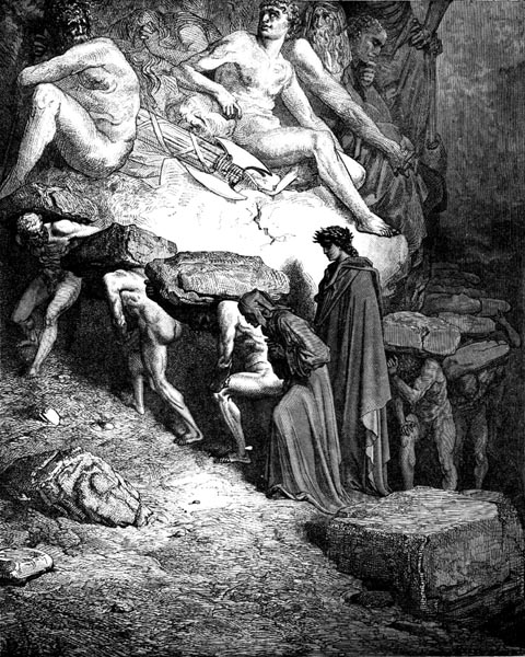 Gustave Doré Illustration - Purgatorio Canto 12, 1