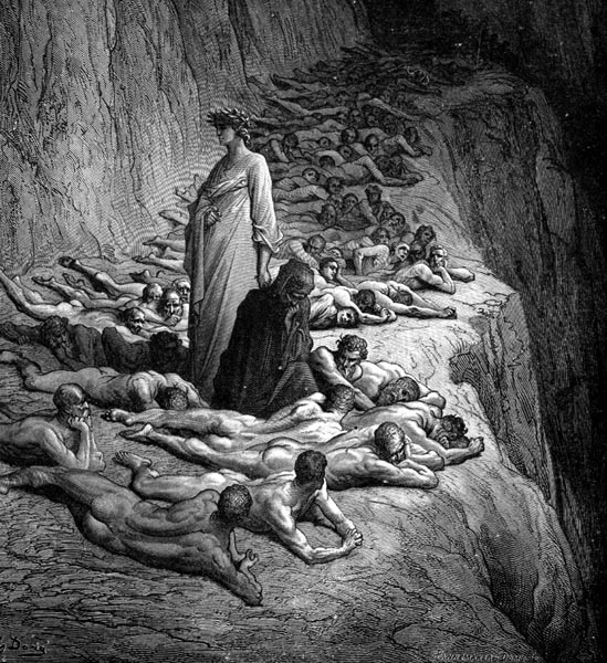 Gustave Doré Illustration - Purgatorio Canto 19, 131