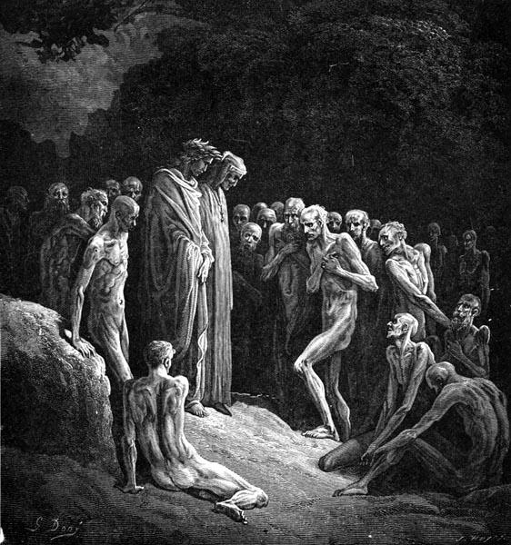 Gustave Doré Illustration - Purgatorio Canto 24, 4