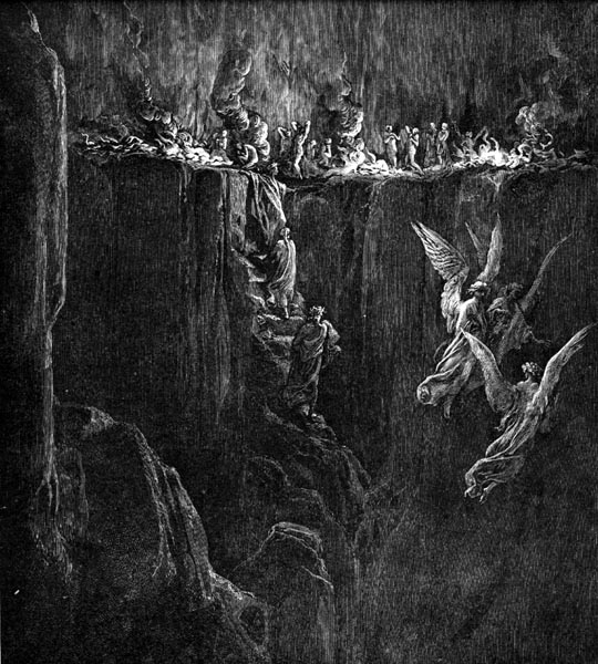 Gustave Doré Illustration - Purgatorio Canto 25, 107