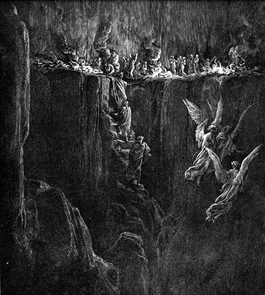 Gustave Doré Illustration - Purgatorio Canto 25, 107