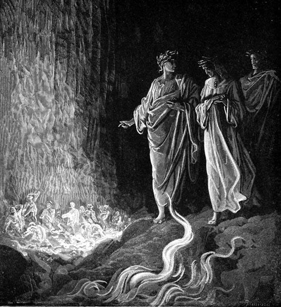 Gustave Doré Illustration - Purgatorio Canto 25, 117