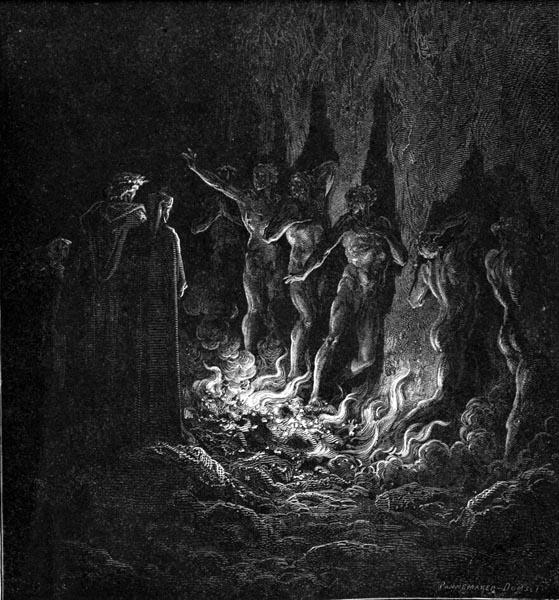 Gustave Doré Illustration - Purgatorio Canto 25, 119