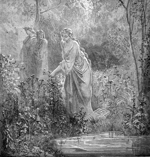 Gustave Doré Illustration - Purgatorio Canto 27, 97