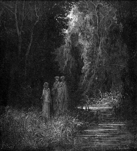 Gustave Doré Illustration - Purgatorio Canto 28, 22