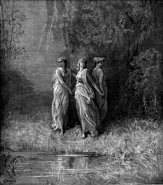 Gustave Doré Illustration - Purgatorio Canto 29, 118