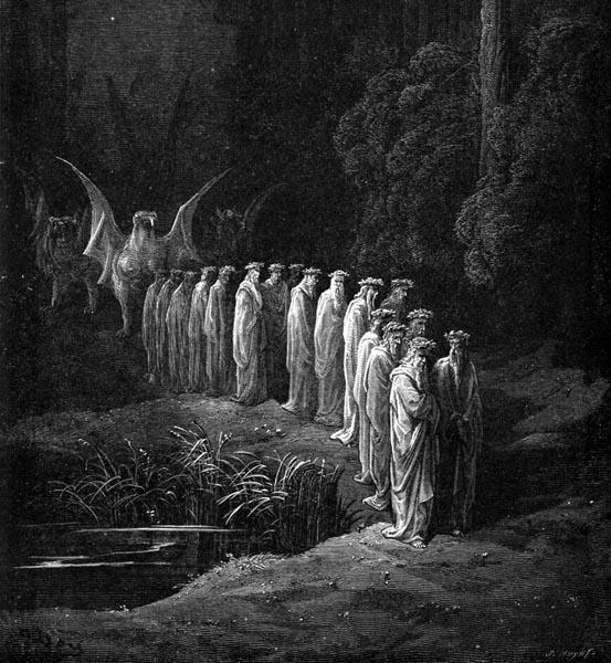 Gustave Doré Illustration - Purgatorio Canto 29, 80