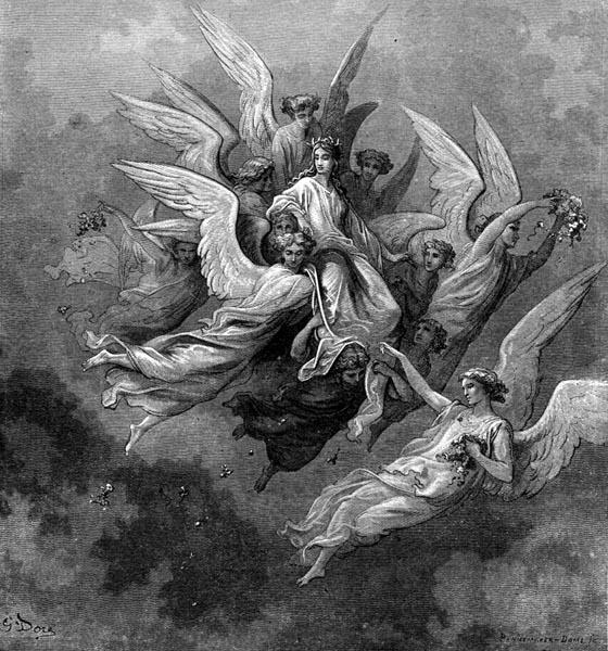 Gustave Doré Illustration - Purgatorio Canto 30, 32