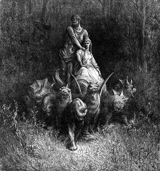 Gustave Doré Illustration - Purgatorio Canto 32, 148
