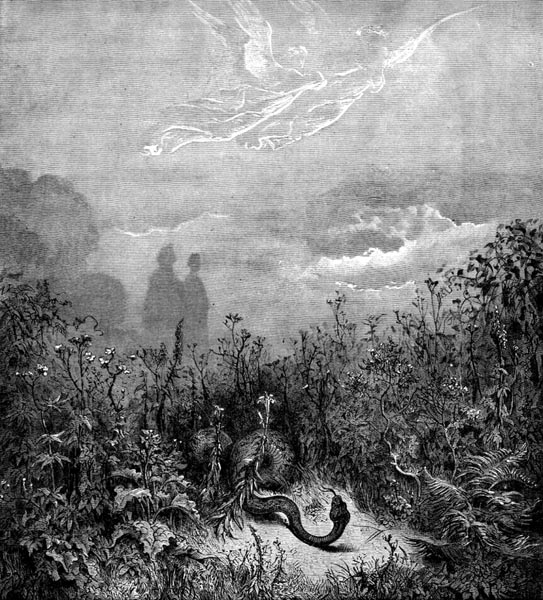 Gustave Doré Illustration - Purgatorio Canto 8, 85