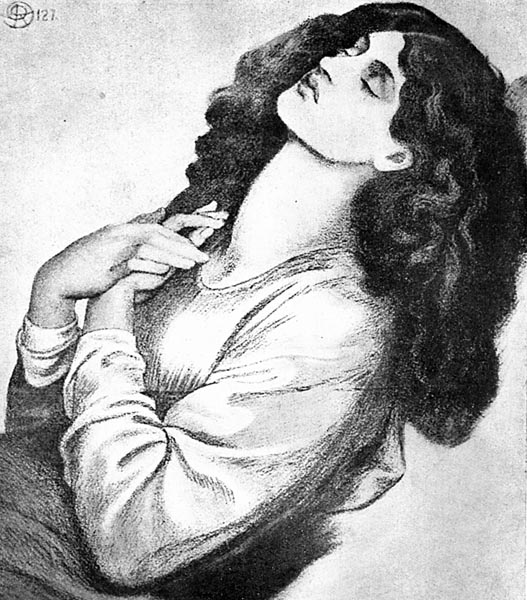 Beatrice (Study for Dante's Dream), Dante Gabriel Rossetti