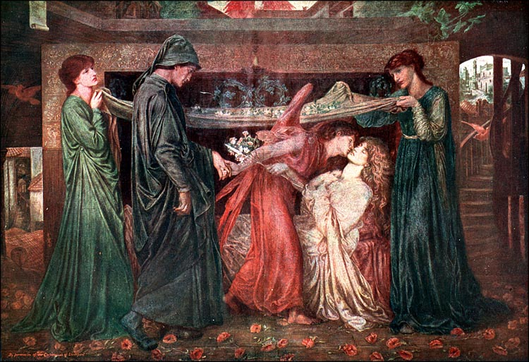 Dante's Dream at the Time of the Death of Beatrice, Dante Gabriel Rossetti