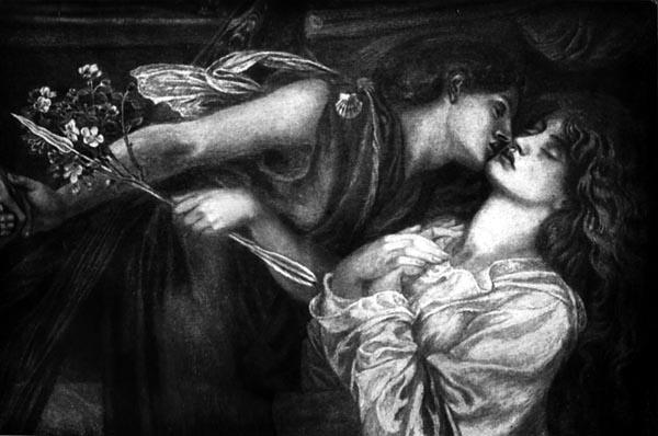 The Kiss (Study for Dante's Dream), Dante Gabriel Rossetti