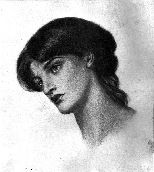 The Pious Lady on the Right (Study for Dante's Dream), Dante Gabriel Rossetti