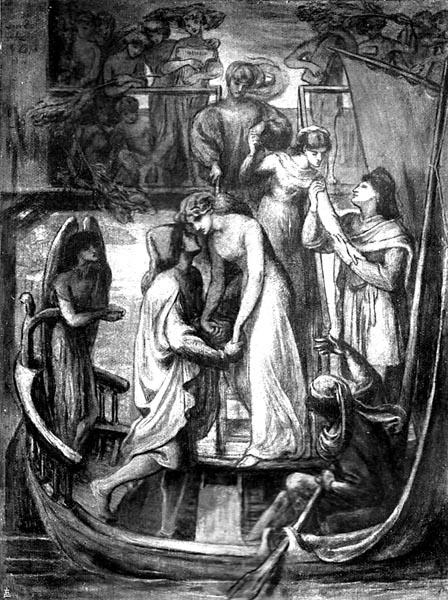 The Boat of Love, Dante Gabriel Rossetti