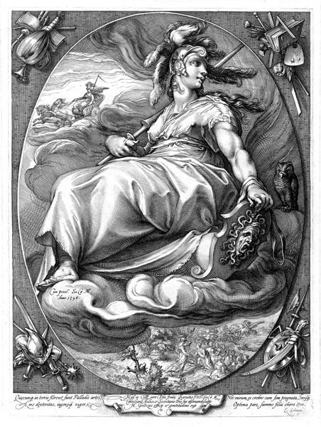 Pallas, Hendrick Goltzius