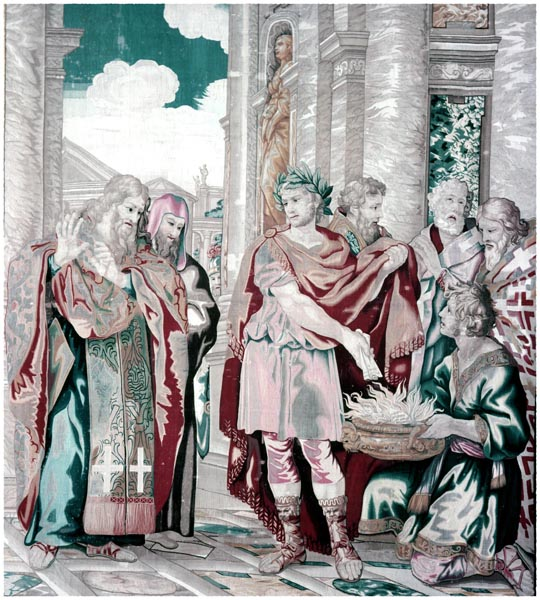 Constantine Burning Memorials, Pietro da Cortona