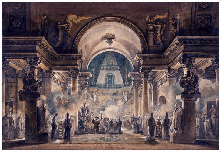 The Funeral Procession of Agamemnon, Louis-Jean Desprez