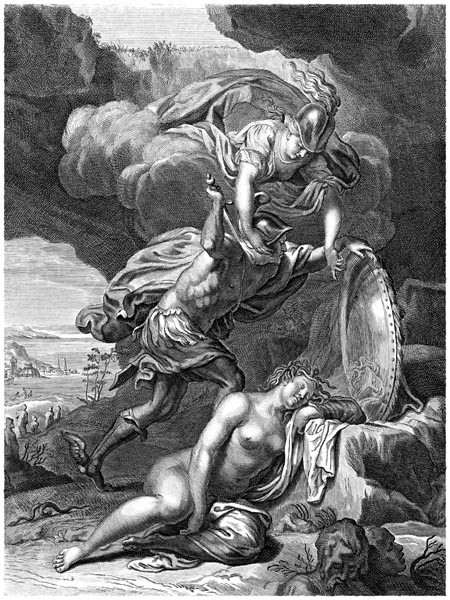 Perseus Kills Medusa, Bernard Picart