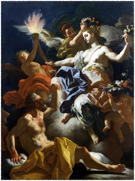 Aurora Taking Leave of Tithonus, Francesco Solimena