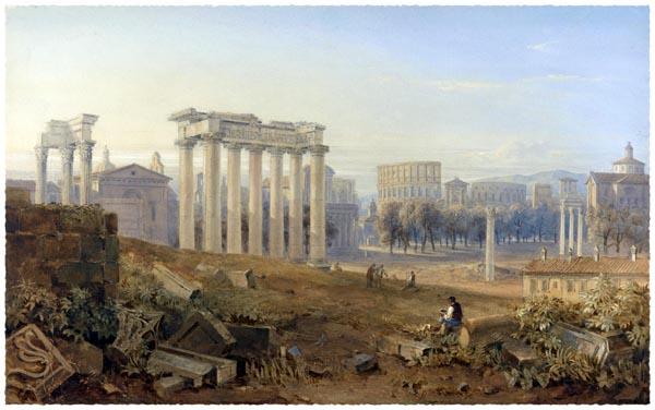 View of the Forum in Rome, Hugh William