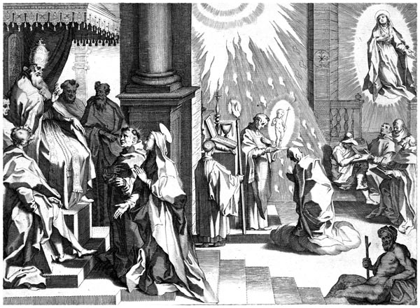 Catherine Asks Pope Gregory XI to Return to Rome, Niccolò dell' Abate