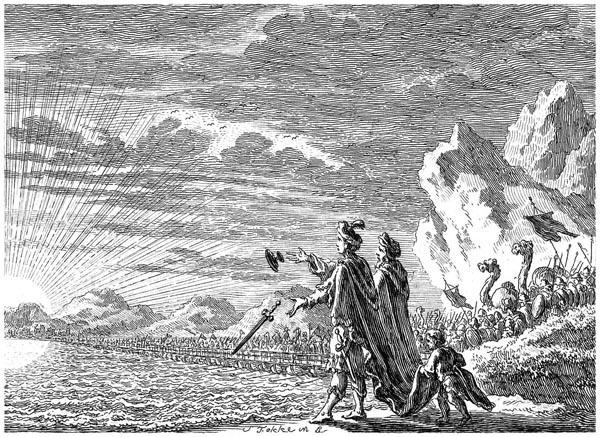 Xerxes Crossing the Hellespont, Simon Fokke' Abate