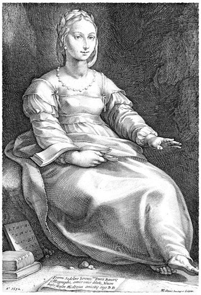 The Nine Muses: Calliope, Hendrick Goltzius