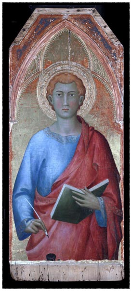 Saint John the Evangelist, Lippo Memmi, workshop of Simone Martini