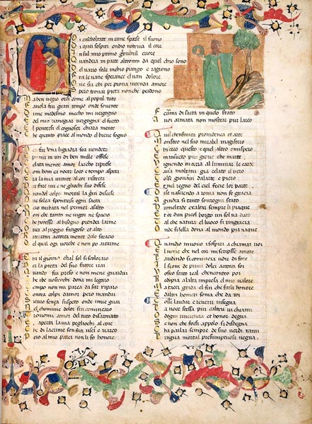 The beginning of Petrarch's Il Canzoniere