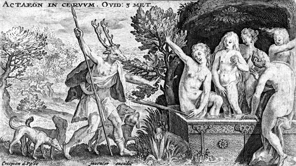 van de Passe Illustration - Diana and Actaeon