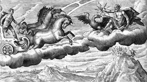 van de Passe Illustration - The ascension of Hercules