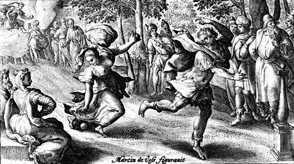 van de Passe Illustration - Atalanta and Hippomenes
