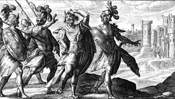 van de Passe Illustration - Cipus approaching Rome