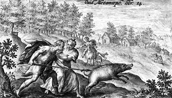 van de Passe Illustration - Picus and Circe