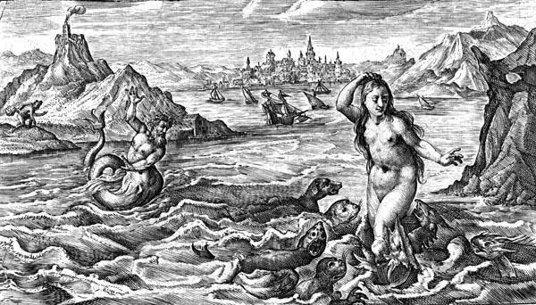 van de Passe Illustration - Circe turns Scylla into a sea monster