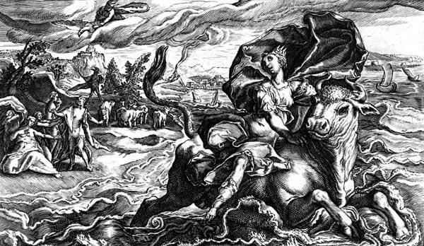 van de Passe Illustration - The rape of Europa