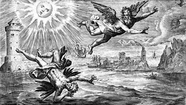 van de Passe Illustration - The fall of Icarus