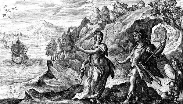 van de Passe Illustration - Medea aids Jason