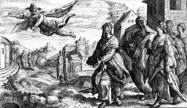 van de Passe Illustration - Mercury sees Herse