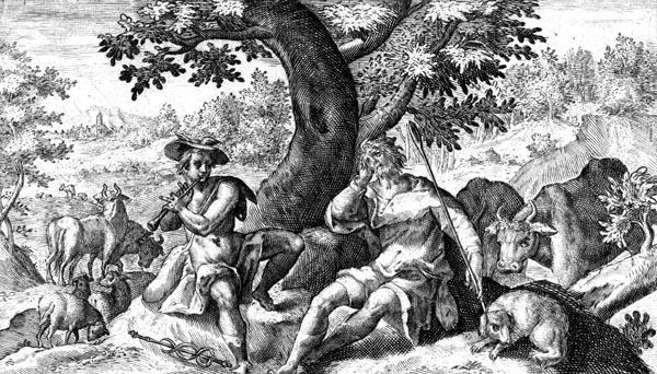 van de Passe Illustration - Mercury and Argus