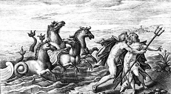 van de Passe Illustration - Neptune rapes Caenis