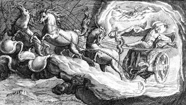 van de Passe Illustration - Phaeton drives the solar chariot