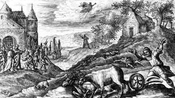 van de Passe Illustration - The plague on the island of Aegina