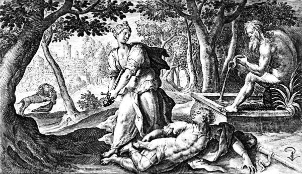 van de Passe Illustration - Pyramus and Thisbe