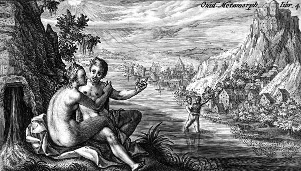 van de Passe Illustration - Salmacis and Hermaphroditus